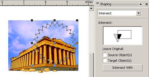 Corel Photo-Paint X3: Crop using an irregular shape
